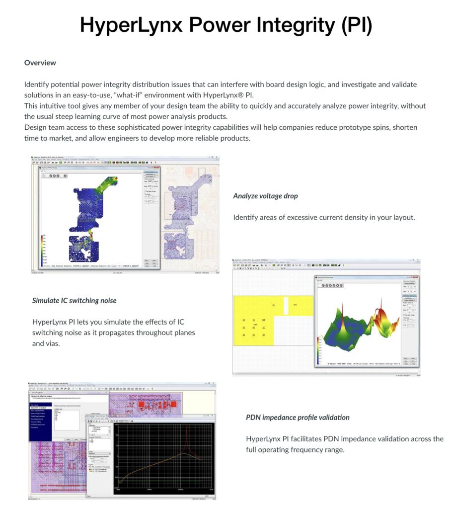 Hyperlynx Power Integrity